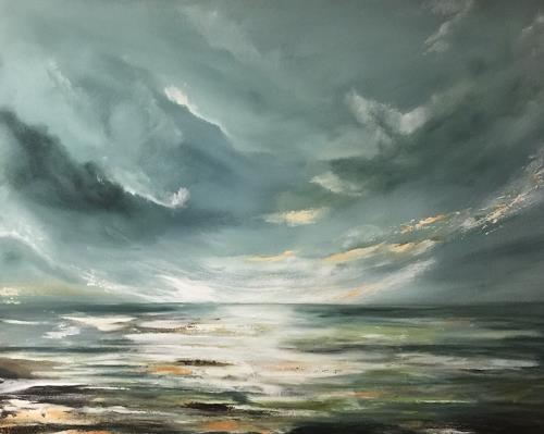 Beate Fritz, Endlose Weite, Landscapes: Sea/Ocean, Nature: Water, Contemporary Art, Expressionism