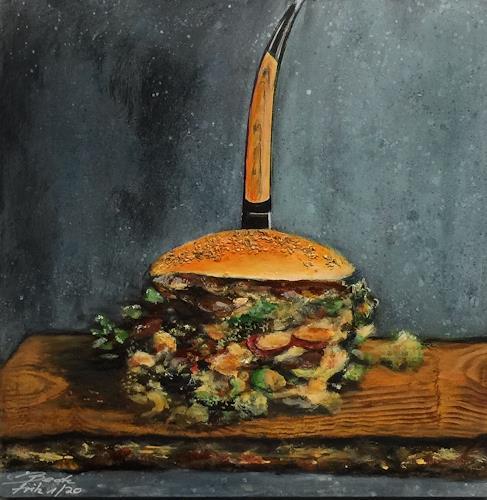 Beate Fritz, gut belegt, Still life, Meal, Contemporary Art