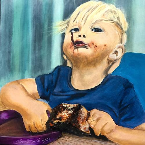 Beate Fritz, Der kleine Genießer, Meal, Meal, Contemporary Art, Abstract Expressionism