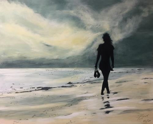 Beate Fritz, Der Sonne entgegen, Emotions: Joy, Landscapes: Sea/Ocean, Abstract Art, Expressionism