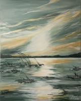Beate-Fritz-Romantic-motifs-Sunrise-Nature-Water-Contemporary-Art-Contemporary-Art