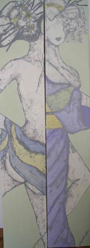 Pamela Gotangco, Onsen Geisha, People: Women, Contemporary Art
