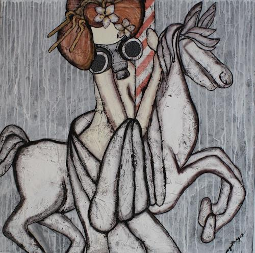 Pamela Gotangco, Merry go Round, People, Society, Contemporary Art, Abstract Expressionism
