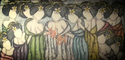 Pamela Gotangco, Last Nights Supper, People, Humor, Contemporary Art, Abstract Expressionism