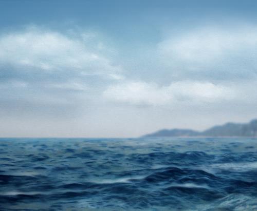 Robert Gärtner, Seegang, Landscapes: Sea/Ocean, Naturalism, Expressionism