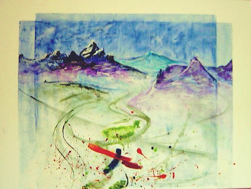 agabea, Bild nach Eberhard Münch, Landscapes: Mountains, Fantasy, Abstract Art