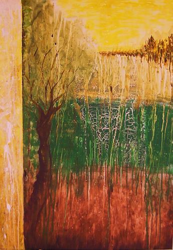 agabea, Baum am Waldrand, Abstract art, Nature: Wood, Abstract Art
