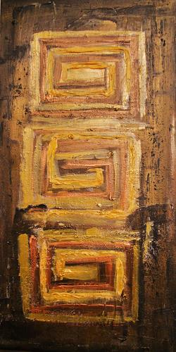agabea, Feststehenden im Gold, Symbol, Situations, Abstract Art
