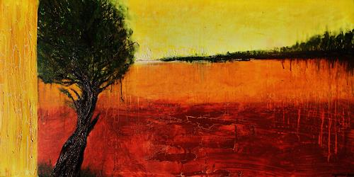 agabea, Am Rande, Plants: Trees, Landscapes: Autumn, Abstract Art, Expressionism