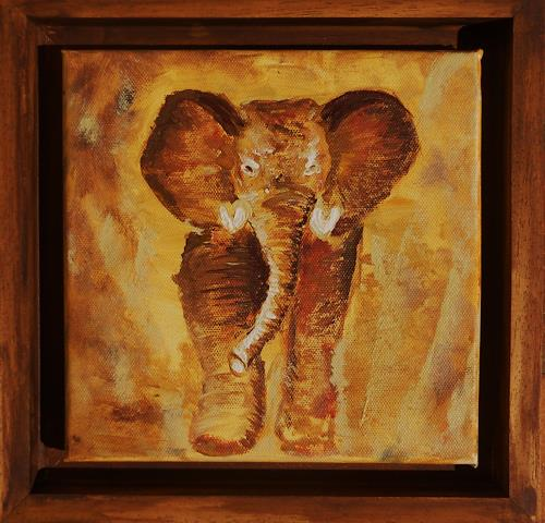 agabea, Elefant, Animals: Land, Abstract art, Art Déco