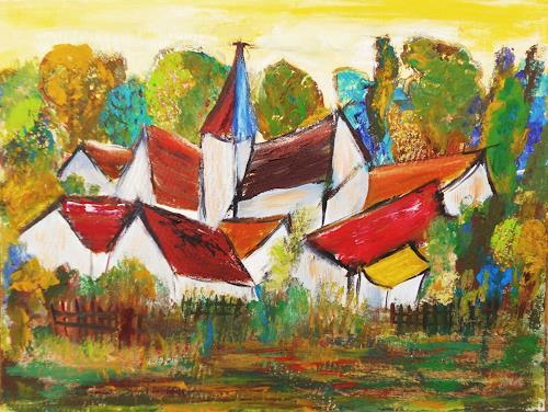 agabea, Hinter dem Zaun, Interiors: Villages, Miscellaneous Landscapes, Abstract Art