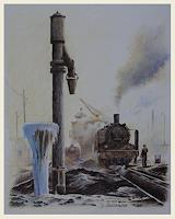 Bernd-Kauschmann-The-world-of-work-Traffic-Railway-Modern-Times-Realism