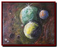 Friedrich-UNGER-Outer-space-Stars-Modern-Age-Abstract-Art