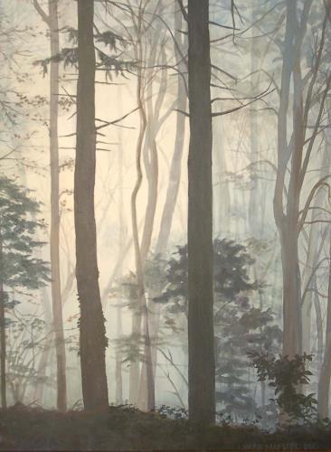 Vera Käufeler, Warten auf Weihnachten, Nature: Wood, Expressionism
