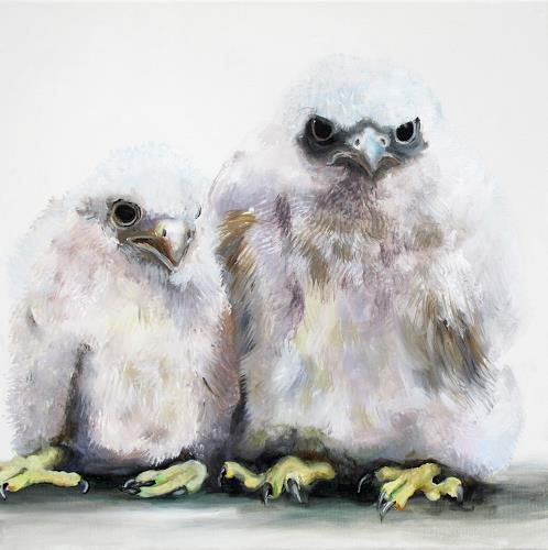Vera Käufeler, Little Falkenauge, Animals: Air, Photo-Realism, Abstract Expressionism