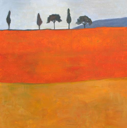 Vera Käufeler, Paesaggio toscano, Landscapes: Summer, Concrete Art, Expressionism