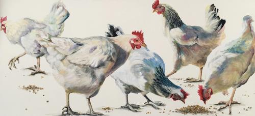 Vera Käufeler, Chicken first!, Animals: Land, Nature, Photo-Realism