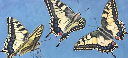 Vera Käufeler, Miss Flatter, Animals, Nature: Air, Photo-Realism, Expressionism