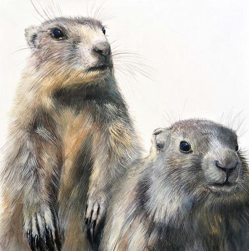 Vera Käufeler, Mingg & Mungg, Animals: Land, Nature: Earth, Photo-Realism, Expressionism
