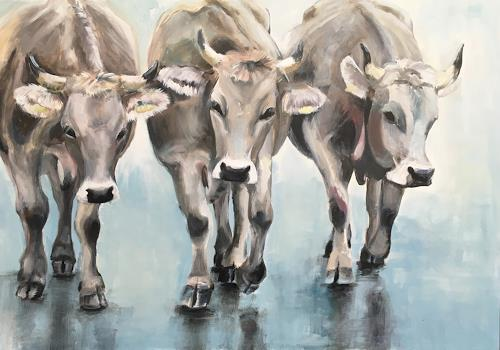 Vera Käufeler, Catwalk? - Cowwalk!, Animals: Land, Nature, Photo-Realism
