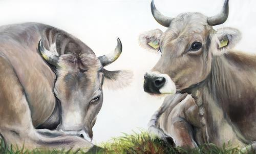 Vera Käufeler, Lilly & Marlen, Animals: Land, Nature, Photo-Realism, Expressionism
