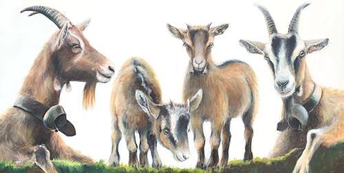 Vera Käufeler, Momentan nichts zu meckern, Animals, Nature, Photo-Realism, Expressionism