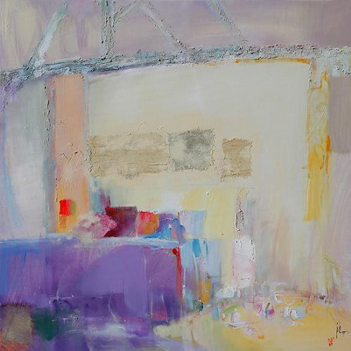 Xiaoyang Galas, Tender Interior, Decorative Art, Interiors: Rooms, Contemporary Art, Expressionism