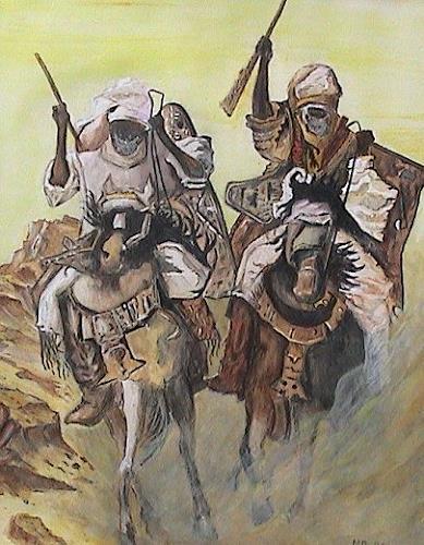 Michael Doerr, arabische Reiter, Miscellaneous People, History, Historism