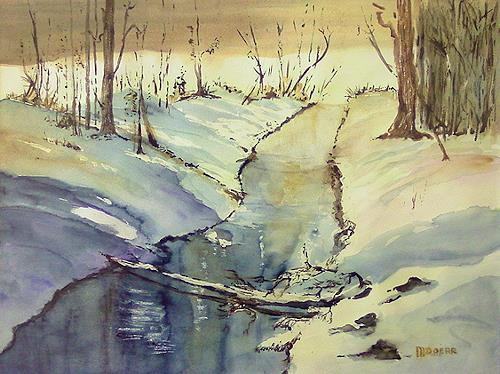Michael Doerr, Winterlandschaft, Landscapes: Winter, Nature: Miscellaneous, Naturalism, Expressionism