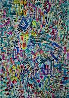 Inese-Dzervinika-Fantasy-Modern-Age-Abstract-Art-Non-Objectivism--Informel-