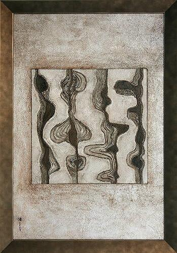 Heike Bender, Interaktion 2, Abstract art, Fantasy, Modern Age