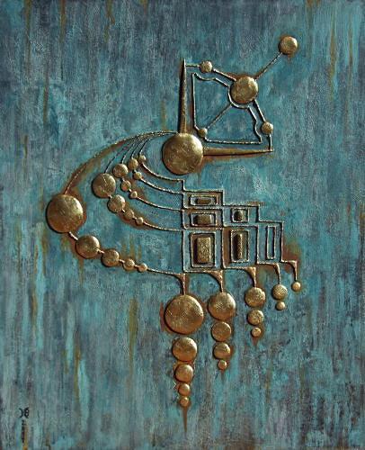 Heike Bender, Nummuliten Zeichen, Abstract art, Fantasy, Modern Age
