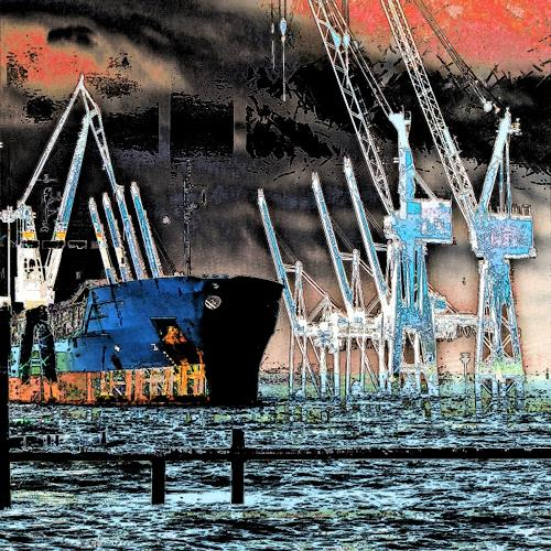 Beate Kratt, Hamburg - Hafen, Technology, Industry  , Contemporary Art, Abstract Expressionism