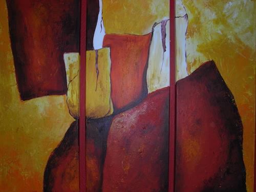 Christine Haiden, FEUERBERGE, Abstract art, Abstract Art