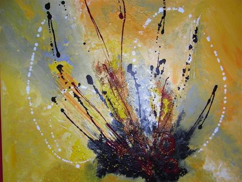 Christine Haiden, ERUPTION, Abstract art