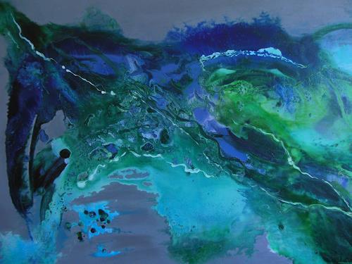 Christine Haiden, NACHDENKLICH, Abstract art, Expressionism