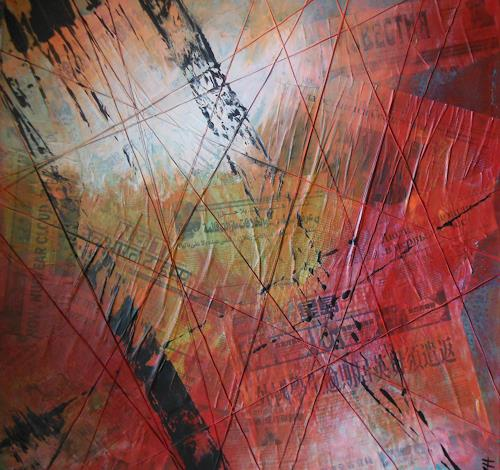 Christine Haiden, TIME  for  NEWS, Abstract art, Abstract Expressionism
