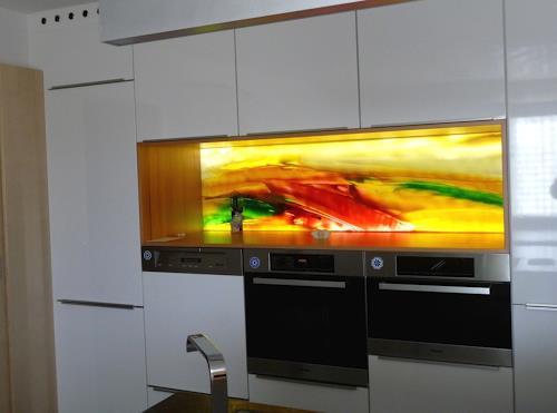 maria kammerer, Glasbild für Küchennische, Abstract art, Modern Age