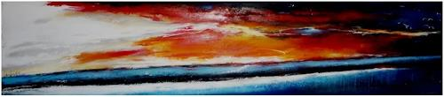 maria kammerer, Sonnenuntergang, Landscapes: Sea/Ocean, Abstract Art