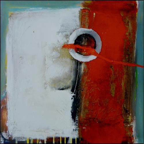 maria kammerer, Übungsbild mit verschiedenen Materialen und Techniken, Abstract art, Modern Age, Expressionism
