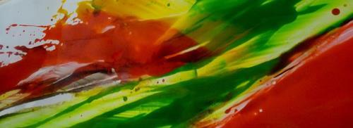 maria kammerer, Glasbild für Küchennische, Abstract art, Abstract Art