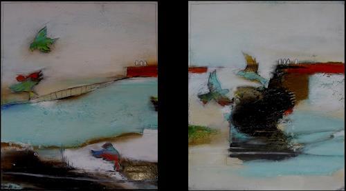 maria kammerer, Lebendingkeit!, Animals: Air, Abstract Art