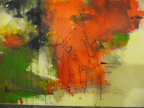 """maria kammerer, Detailansicht """"Schau, wie schön!, People, Abstract Art, Expressionism"""