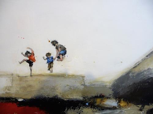 maria kammerer, Detailansicht Sorgenfrei 2!, People: Children, Abstract Art, Expressionism