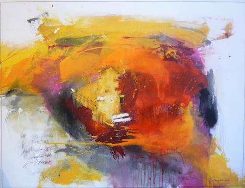 maria kammerer, Meine kleine, perfekte Welt!, Landscapes, Abstract Art, Expressionism