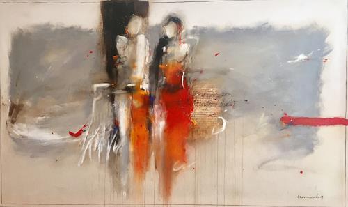 maria kammerer, Gemeinsam durchs Leben!, People: Couples, Abstract Art, Expressionism