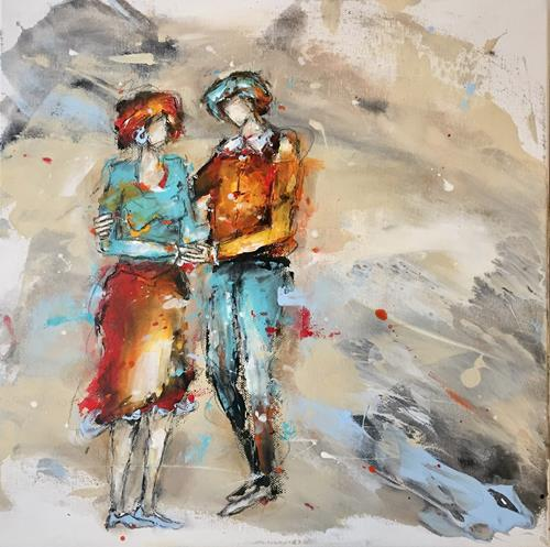"maria kammerer, Auftragsarbeit ""Partnerschaft, People: Couples, Abstract Art, Expressionism"