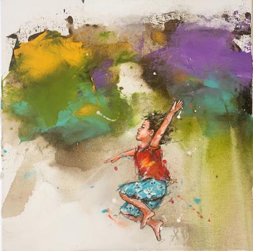 maria kammerer, Auftragsarbeit, People: Children, Abstract Art, Expressionism