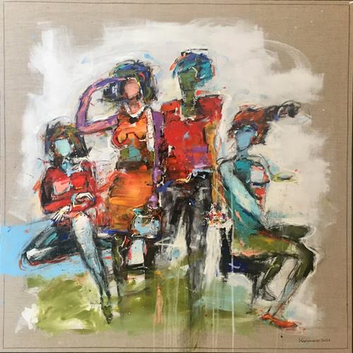maria kammerer, Treffpunkt!, People: Group, Abstract Art, Abstract Expressionism