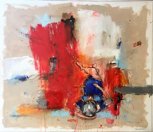 maria kammerer, Auftanken!, People: Women, Abstract Art, Expressionism